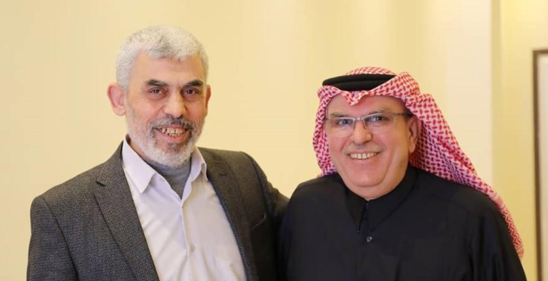 خلال لقاء السنوار مع السفير العمادي