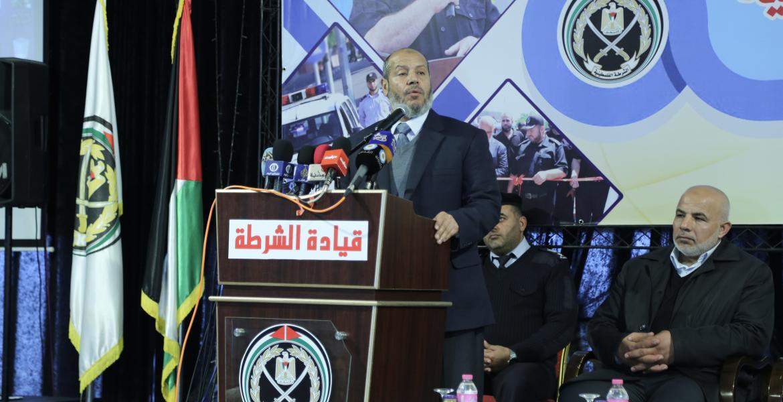 عضو المكتب السياسي حماس د. خليل الحية خلال الحفل