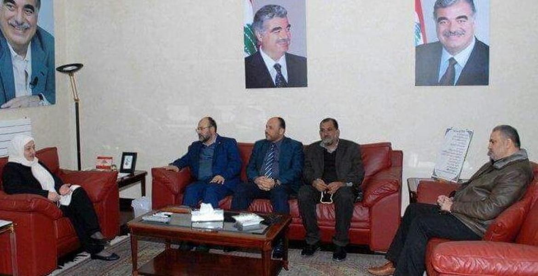 خلال لقاء وفد من حماس بالنائب الحريري في صيدا