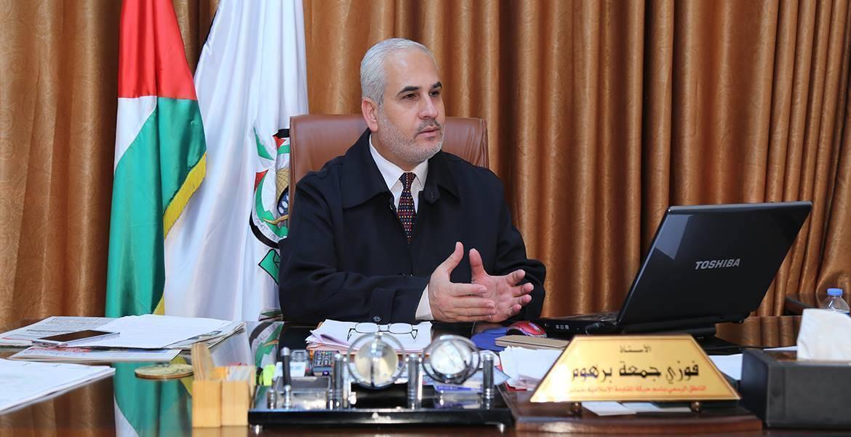 الناطق باسم حركة حماس فوزي برهوم