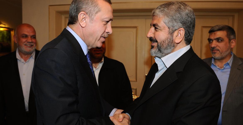 لقاء مشعل بالرئيس أردوغان (أرشيف)