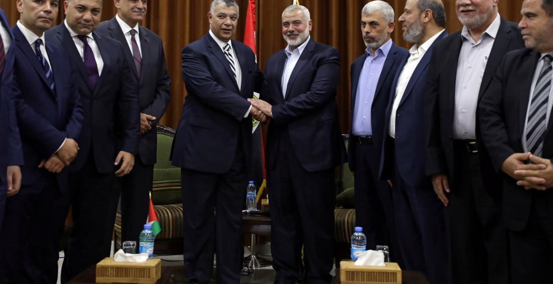 اجتماع قيادة حركة حماس بوزير المخابرات المصري في غزة الأسبوع الماضي