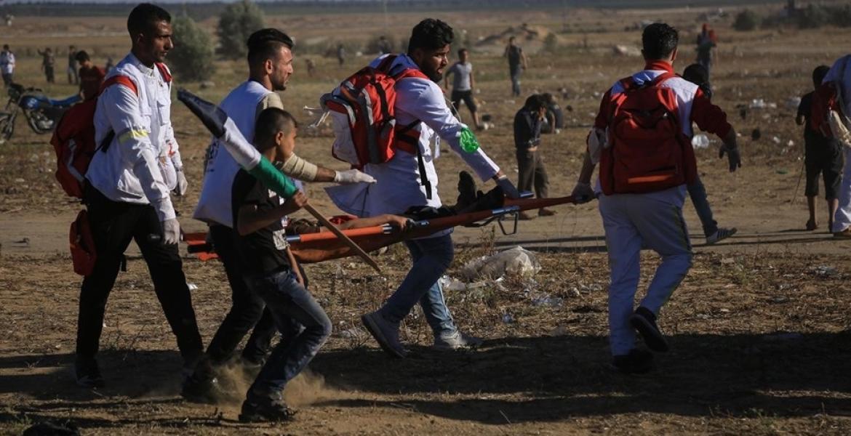 استهداف الاحتلال للمتظاهرين عند حدود قطاع غزة