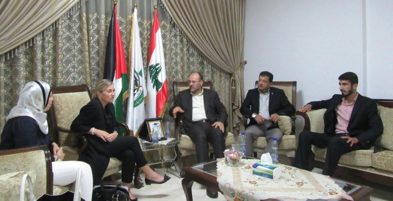 وفد من حركة حماس في لبنان يلتقي سفيرة النرويج ببيروت