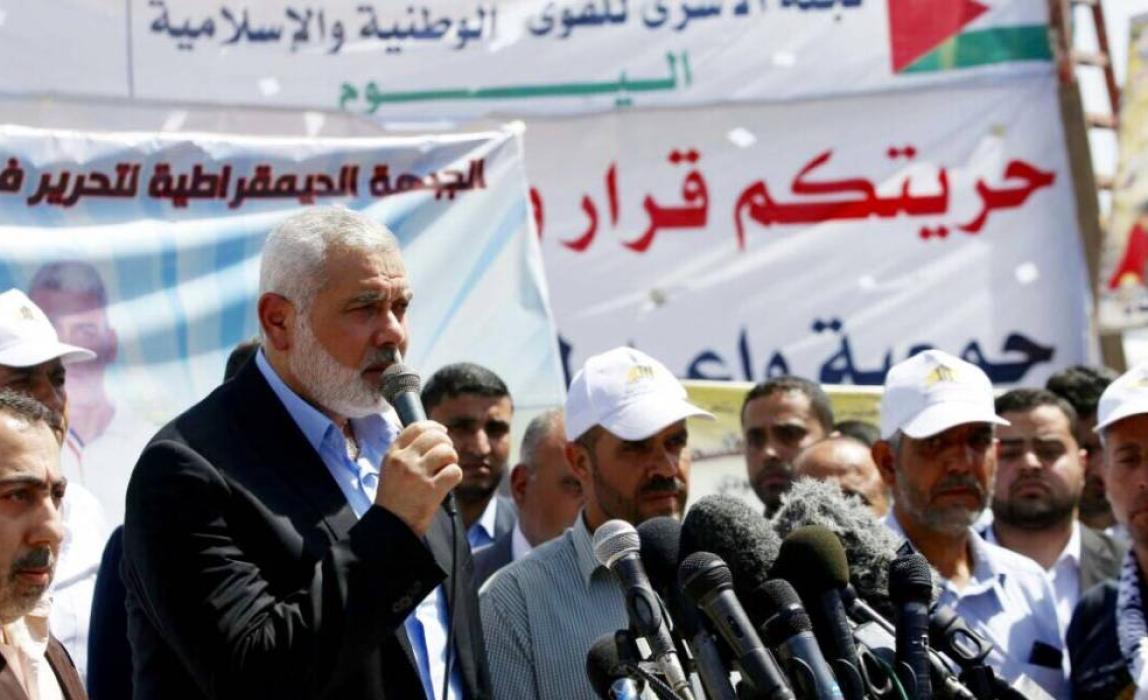 كلمة الأستاذ إسماعيل هنية خلال زيارته خيمة التضامن مع الأسرى بغزة