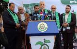 مؤتمر صحفي لحركة حماس إعلاناً عن بدء فعاليات انطلاقتها التاسعة والعشرين