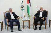 (صورة أرشيفية) خلال لقاء سابق بين رئيس المكتب السياسي لحركة حماس إسماعيل هنية والأمين العام لحركة الجهاد الإسلامي زياد النخالة