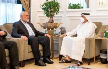 """هنية مع وزير الخارجية القطري """"أرشيف"""""""