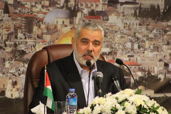 إسماعيل هنية، نائب رئيس المكتب السياسي لحركة حماس، ورئيس الوزراء الفلسطيني السابق