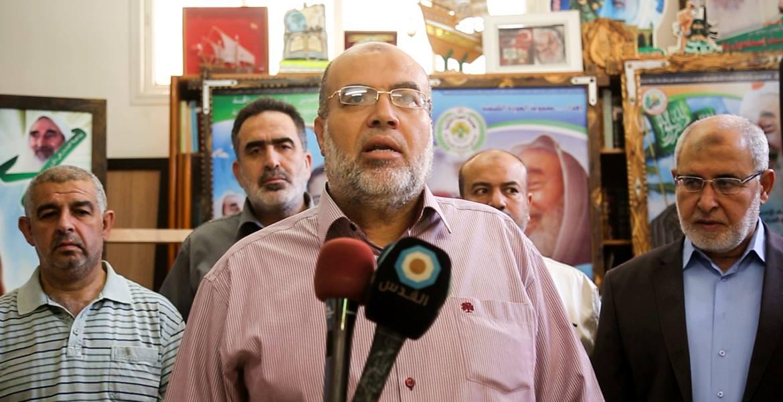 مسؤول اللجنة الإغاثية في منطقة جنوب غزة د. وليد عويضة خلال إعلان انطلاق الحملة