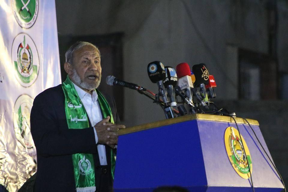 خلال حفل تأبين الشهيد أنس أبو شاويش