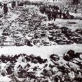 Bodies of Palestinians massacred in Deir Yassin village, massacre by Israeli Haganah against Palestinian civilians on April 9, 1948