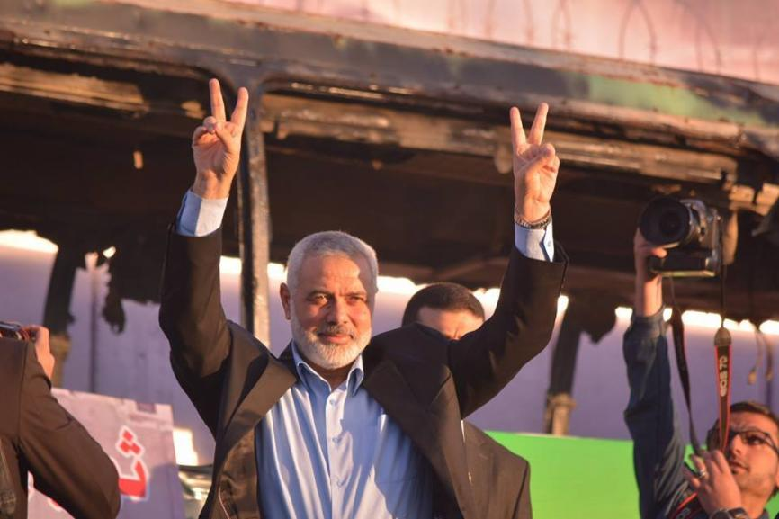Ismail Haniya, deputy chairman of Hamas political bureau, delivered the rally's key speech where he warned against the continuation of siege on Gaza