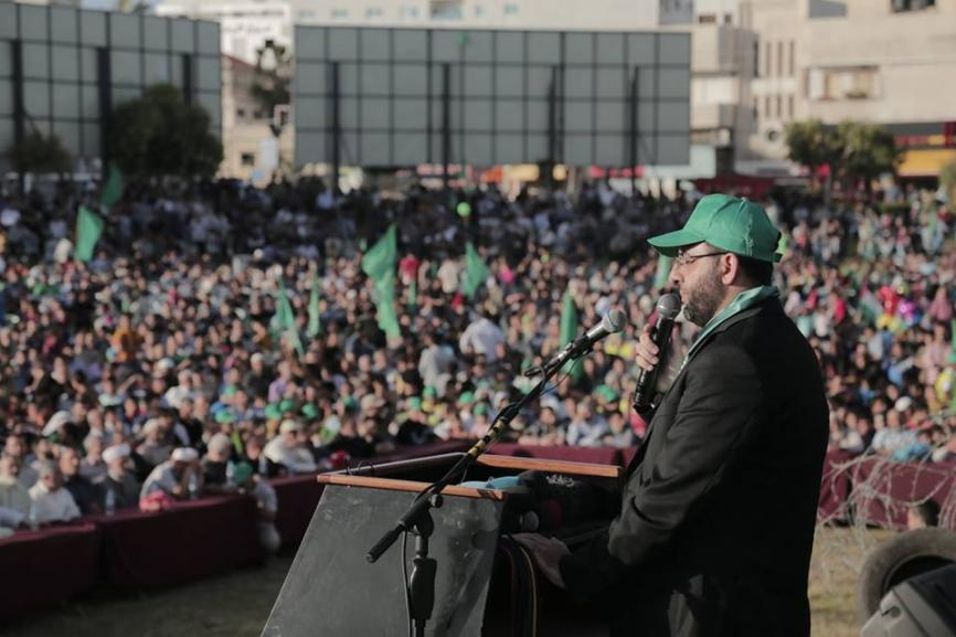Abdurrahman Shadid, ex-detainee from the West Bank and spokesman of Hamas