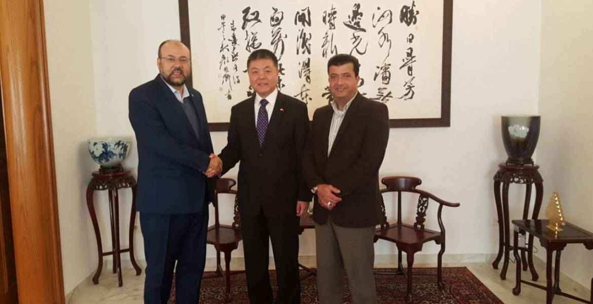 Image result for chinese ambassador meet with hamas leaders in beirut