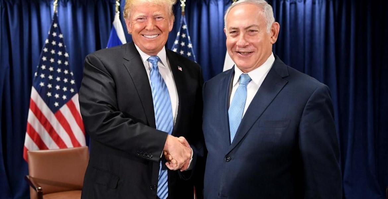 US President Donald Trump (L) and Israeli Prime Minister Benjamin Netanyahu