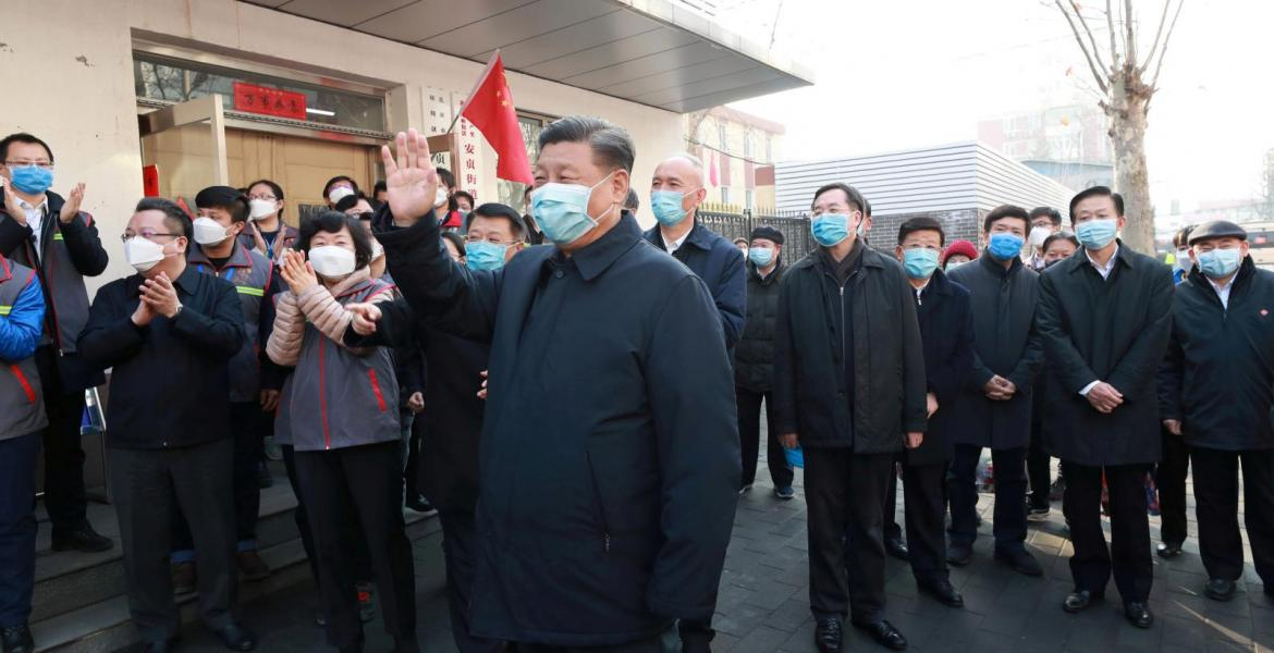 Chinese President in his first visit to Wuhan after controlling thr virus