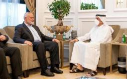 Haniyeh with the Qatari Foreign Minister (archive)